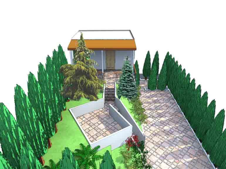 Edilizia ambiente catasto privati progetto giardino privato architetto anna altini - Progetto giardino privato ...