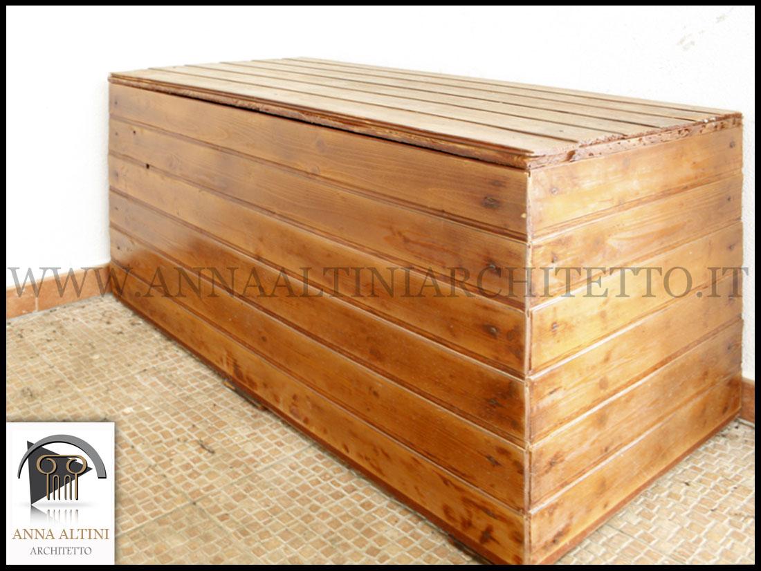 Edilizia ambiente catasto privati tempo libero creativo architetto anna altini - Cassapanca legno da esterno ...